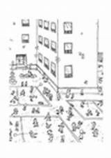 Coloring Playground Hopscotch Colorear Dibujo Para Recreo Pages Patio Edupics sketch template
