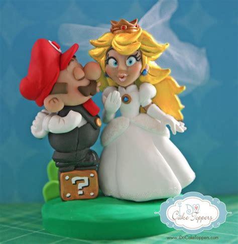 Super Mario And Princess Peach Cake Topper Pic Global