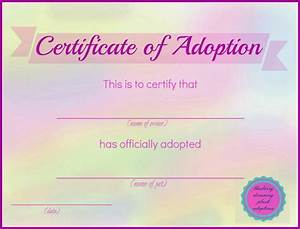 Blueberry dreaming printable stuffed animal adoption certificates for Free printable adoption certificate