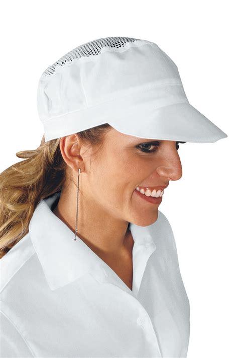 casquette de cuisine casquette blanche de cuisine avec filet coiffes de cuisine