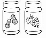 Peanut Clipart Butter Coloring Jelly Jar Cartoon Grape Bing Valentines Girlscoloring Worksheet Clipground sketch template