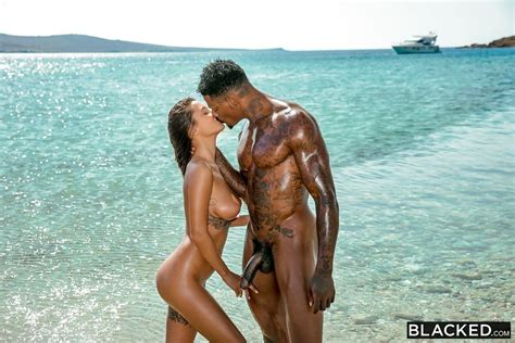 Liya Silver Interracial Sex On The Beach Blacked At