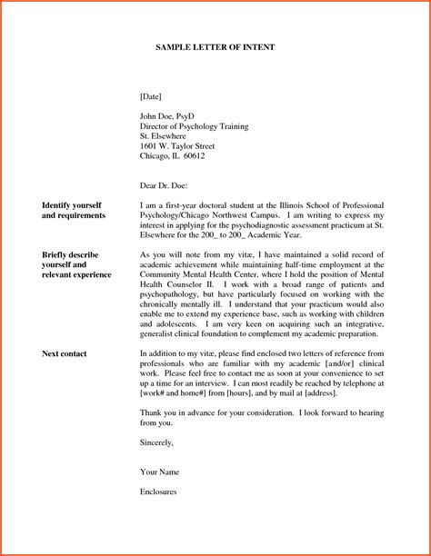 what is a letter of intent real estate letter of intent template format exle sle