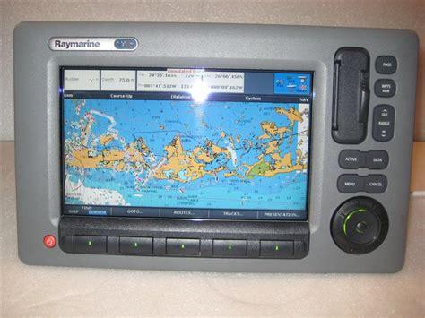 raymarine c90w chartplotter preloaded coastal charts fs sold hull
