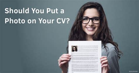 should you put a photo on your cv resumonk