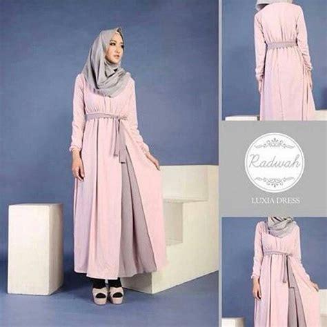 baju gamis muslim modern cantik quot luxia dress quot terbaru