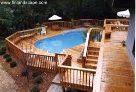 image result  multi level deck  ground pool