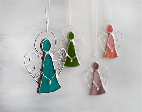 Stained Glass Angel Ornaments, Little Cute Angels