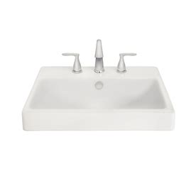 shop aquasource white fire clay drop in rectangular