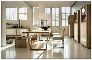 chaise en cuir beige salle manger 9 idees de decoration With salle À manger contemporaineavec chaise en cuir beige salle manger
