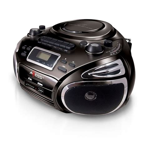 cd player mp3 axess portable stereo boombox cd mp3 player am fm radio