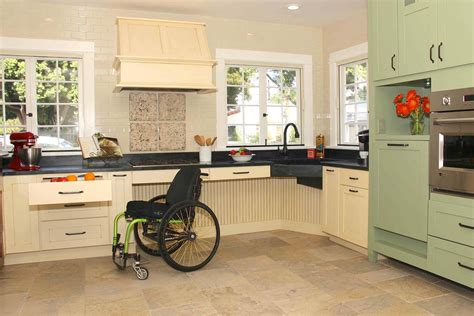 wheelchair accessible kitchen design universal design one size fits all 1244
