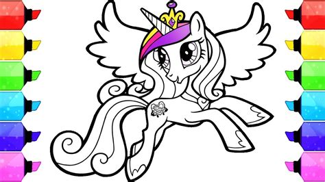 my pony coloring books my pony coloring book pages cadence how to draw