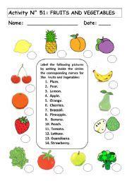 fruits  vegetables esl worksheet  andresdomingo