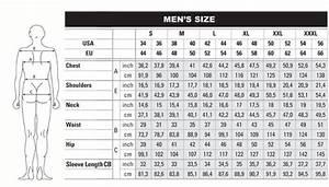 Man U0026 39 S Size Charts