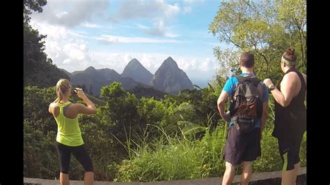 st lucia caribbean vacation hiking the pitons youtube
