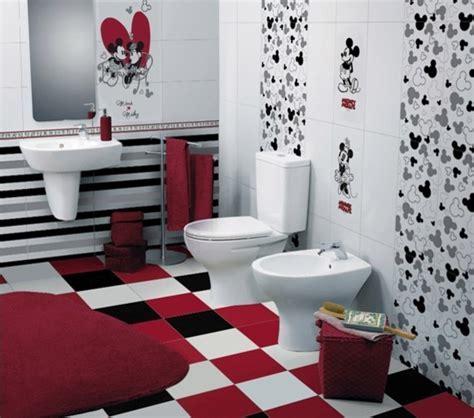 Children's Bathroom with Disney Tiles   Contemporary