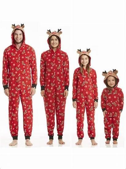 Christmas Pajamas Onesie Matching Reindeer Holiday Sets