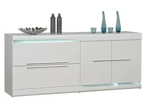 vendre canapé buffet 2 tiroirs 2 portes ovio coloris blanc laqué