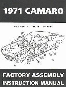 71 Chevy Camaro Factory Assembly Manual Guide Book 1971