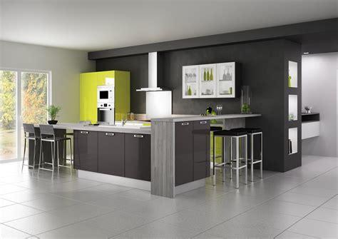 cuisine blanc laqué pas cher cuisine blanc laque avec ilot 15 cuisine 233quip233e