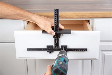 Cabinet Door Handle Template by Cabinet Handle Template Jig Tool Accurate Drawer