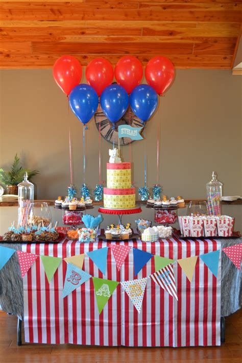 carnival baby showers ideas  pinterest