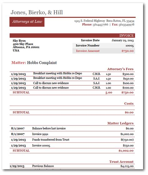introducing rocket matters beautiful law firm invoice