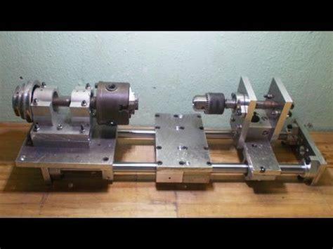 diy axis tailstock lathe mini lathe homemade lathe machine