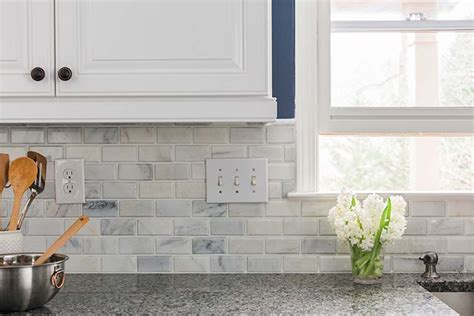 tumbled marble backsplash home depot backsplash for kitchen kenangorgun com