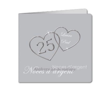 faire part anniversaire de mariage 25 ans carte d invitation mariage 25 ans noces d argent planet