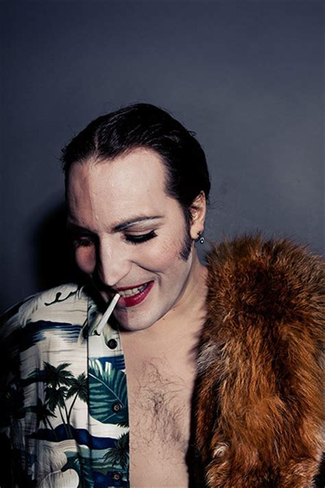 Noel Fielding recreates classic glam images   in pictures
