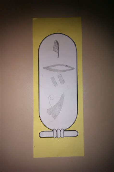 activities  kids egyptian cartouche  tag