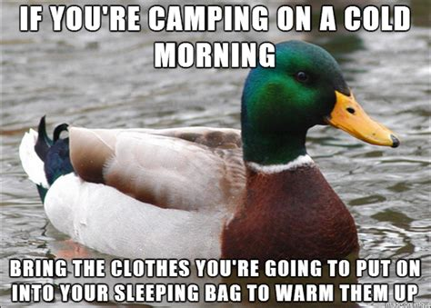 Pedicure Chairs No Plumbing Needed by Cold Mornings On A Camping Trip Are Bad Enough Meme Guy