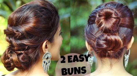 quick easy indian bun hairstyles  mediumlong hair