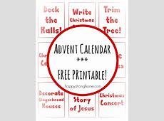 25 Christmas Countdown Activities {Free Printable