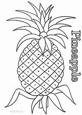 Coloring Pineapple Printable Cool2bkids Fruit Pineapples Cartoon Colors sketch template