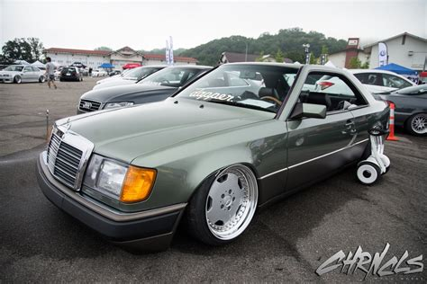 mercedes w124 amg 90s mercedes w124 coupe bagged on amg wheels automotive mercedes