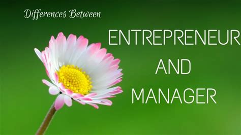 top  differences  entrepreneur  manager wisestep