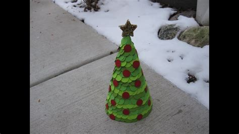 newspaper cone christmas trees paper cone tree craft tutorial