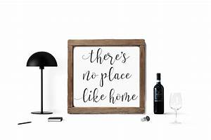 There's No Place Like Home Wood Framed Sign - Lovejoy Workshop