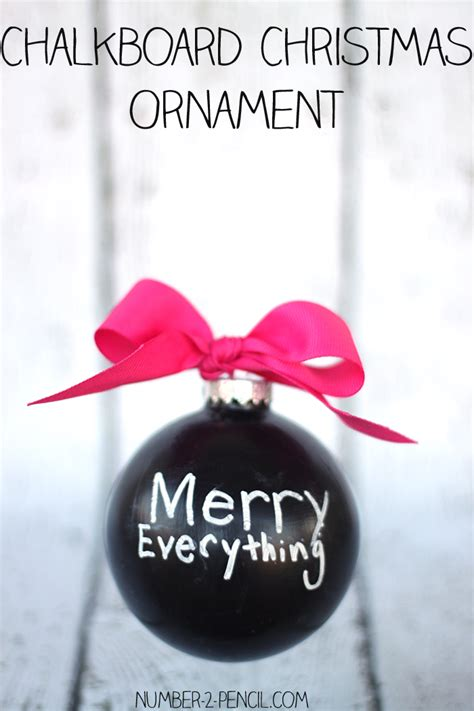 make it and bake it christmas ornaments kit chalkboard ornament no 2 pencil