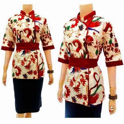 Kebaya Am 222 blouse batik motif cendrawasih call order 085 959 844