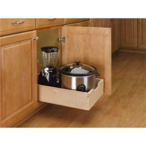 kitchen cabinet pull out shelves home depot rev a shelf 5 62 in h x 14 in w x 22 5 in d medium wood 9655