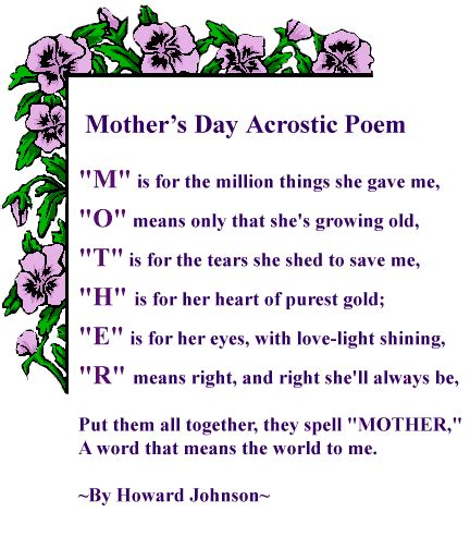 mothers day poems for preschoolers mothers day poems for preschoolers 742