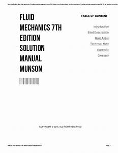 Introduction To Fluid Mechanics 7th Edition Solution