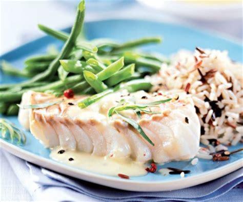 cuisine du poisson recette facile du cabillaud au riz sauvage et haricots verts