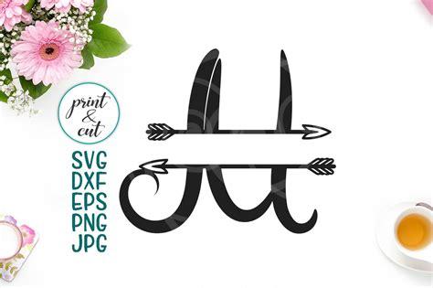 monogram letter  svg file split font  arrows individual letter  kartcreation