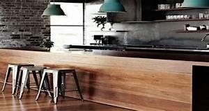Idee Deco Cuisine Ouverte : la cuisine ouverte ose le noir pour se faire d co ~ Preciouscoupons.com Idées de Décoration
