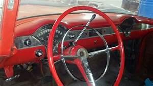 1956 56 Chevrolet Chevy Bel Air 2 Door Post Original Red